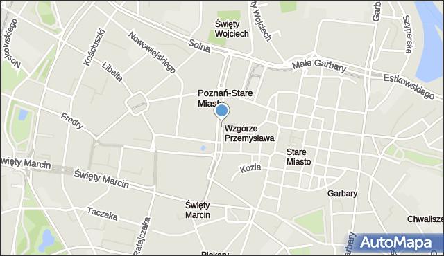 Poznań, Marcinkowskiego Karola, al., mapa Poznania