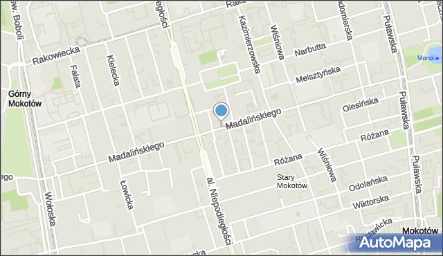Warszawa, Madalińskiego Antoniego Józefa, gen., mapa Warszawy