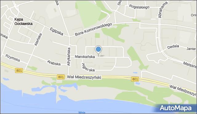 Warszawa, Marokańska, mapa Warszawy