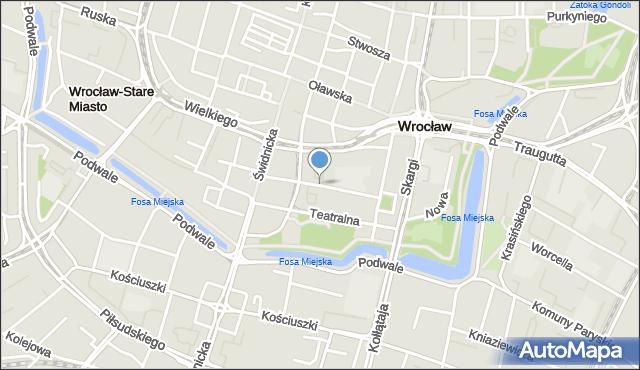 Wrocław, Mennicza, mapa Wrocławia