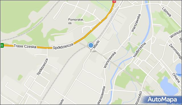 Jelenia Góra, Miarki Karola, mapa Jelenia Góra