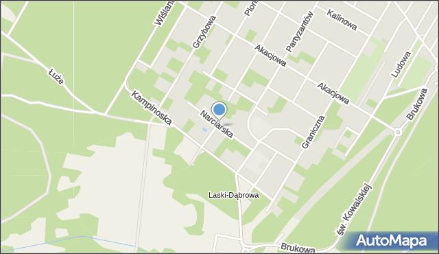 Łomianki, Narciarska, mapa Łomianki