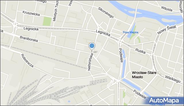 Wrocław, Nabycińska, mapa Wrocławia