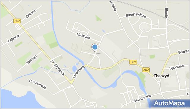 Zbąszyń, Na Kępie, mapa Zbąszyń
