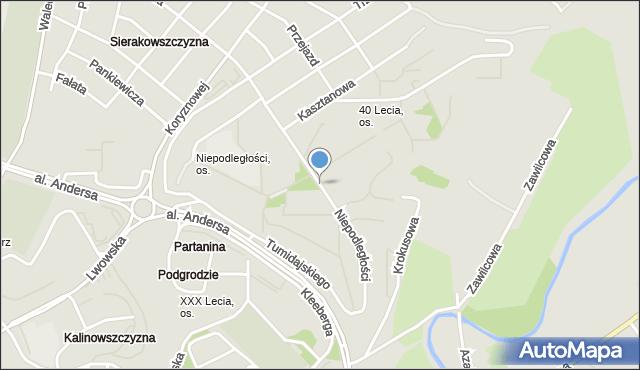 Lublin, Niepodległości, mapa Lublina