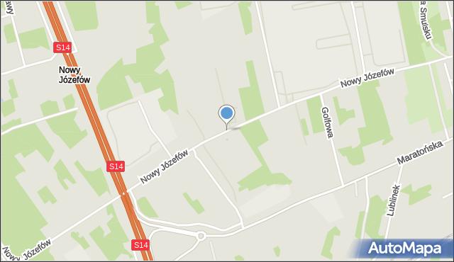 Łódź, Nowy Józefów, mapa Łodzi