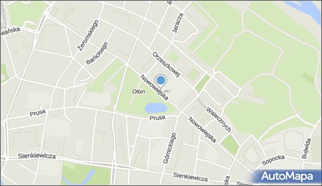 Wrocław, Nowowiejska, mapa Wrocławia