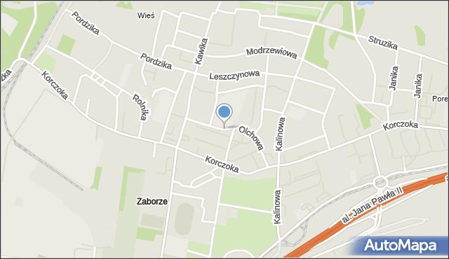 Zabrze, Olchowa, mapa Zabrza
