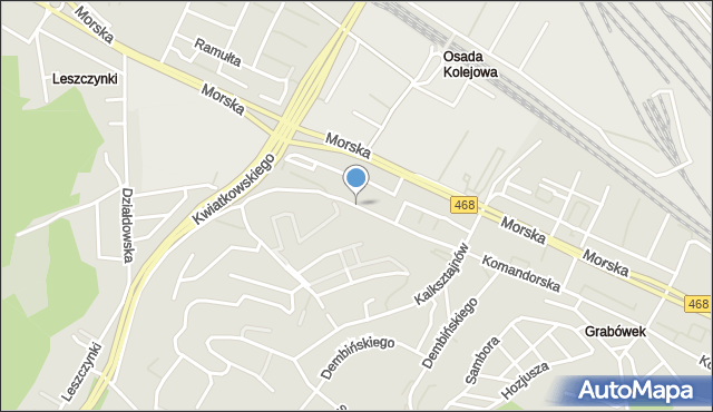 Gdynia, Orlicz-Dreszera, gen., mapa Gdyni