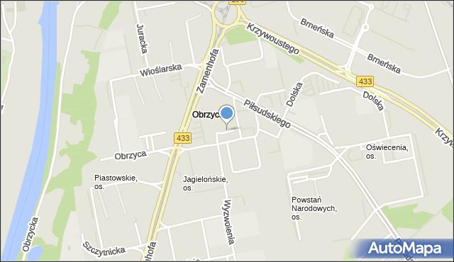 Poznań, Osiedle Jagiellońskie, mapa Poznania