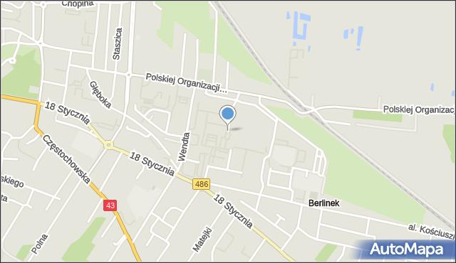 Wieluń, Osiedle Wyszyńskiego Stefana, ks. kard., mapa Wieluń