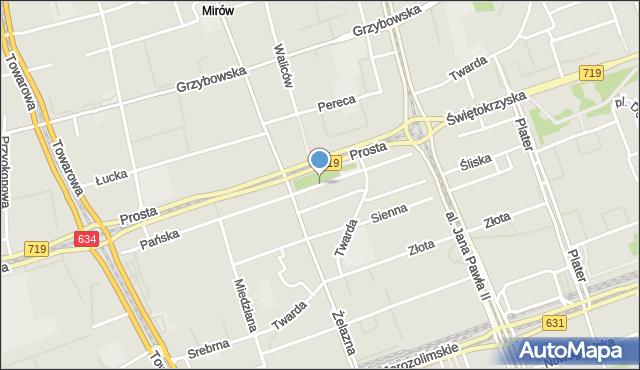 Warszawa, Pańska, mapa Warszawy