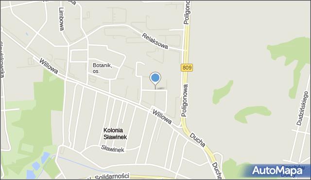 Lublin, Pergolowa, mapa Lublina