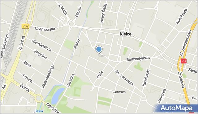 Kielce, Plac Konstytucji 3 Maja, mapa Kielc