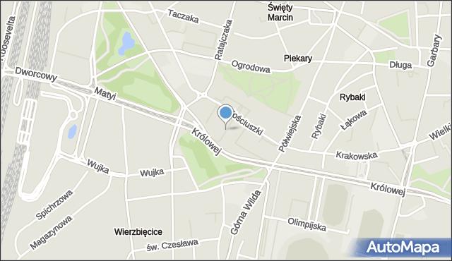 Poznań, Plac Andersa Władysława, gen., mapa Poznania