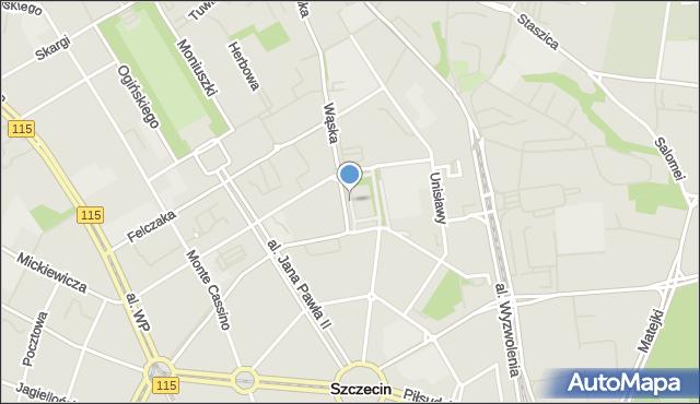 Szczecin, Plac Teatralny, mapa Szczecina