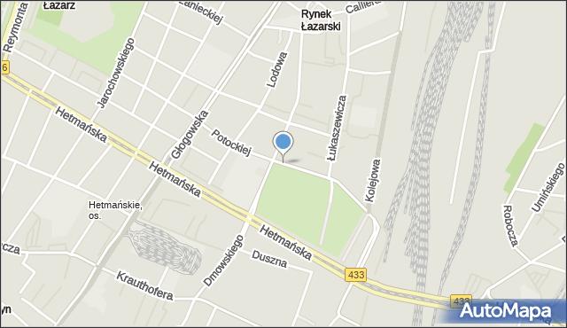 Poznań, Potockiej Klaudyny, mapa Poznania