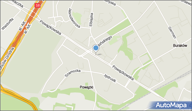 Warszawa, Powązkowska, mapa Warszawy