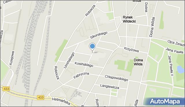 Poznań, Prądzyńskiego Ignacego, mapa Poznania