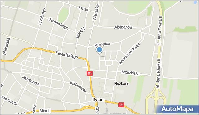 Bytom, Rodziewiczówny Marii, mapa Bytomia