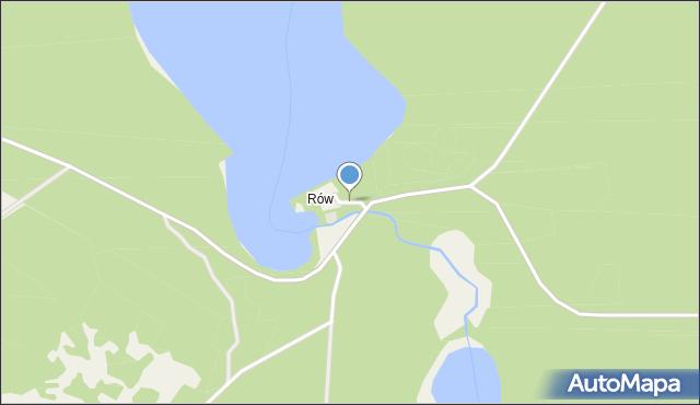Rów, Rów, mapa Rów