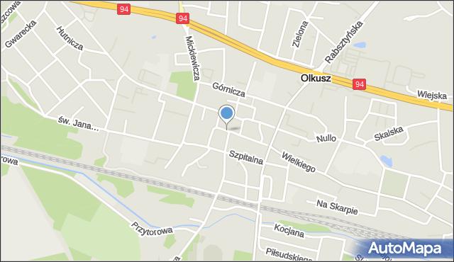Olkusz, Rynek, mapa Olkusz