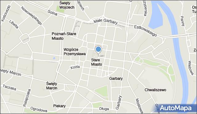 Poznań, Rynek Stary, mapa Poznania