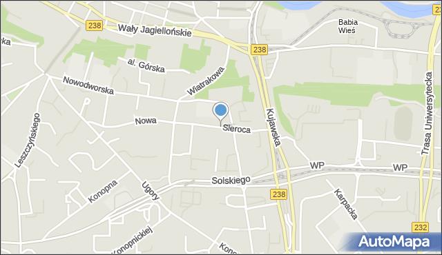 Bydgoszcz, Sieroca, mapa Bydgoszczy
