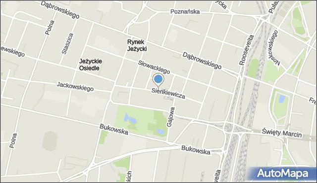 Poznań, Sienkiewicza Henryka, mapa Poznania