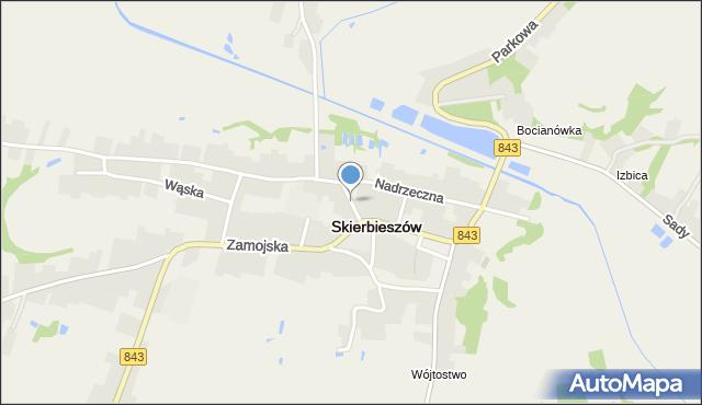 Skierbieszów, Skierbieszów, mapa Skierbieszów