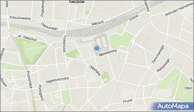Wrocław, Słowiańska, mapa Wrocławia