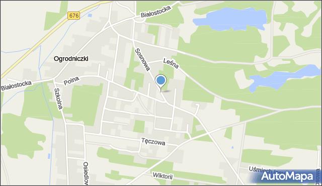 Ogrodniczki, Sosnowa, mapa Ogrodniczki