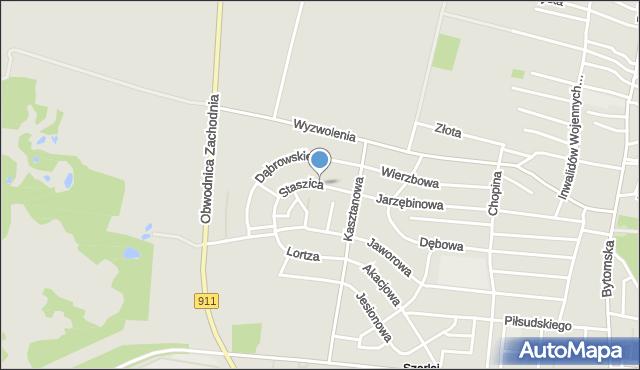 Piekary Śląskie, Staszica Stanisława, mapa Piekary Śląskie