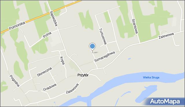 Świnoujście, Sucha, mapa Świnoujście