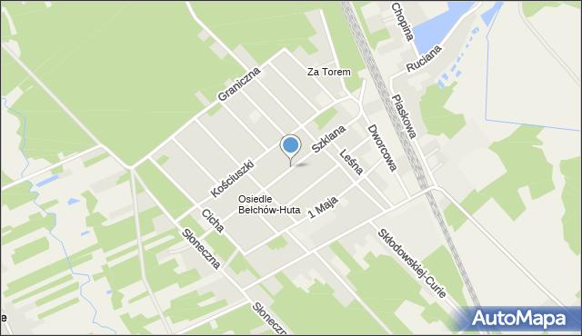Bełchów, Szklana, mapa Bełchów