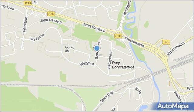 Lublin, Szczytowa, mapa Lublina