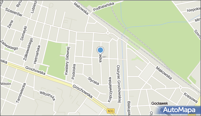 Warszawa, Sztabowa, mapa Warszawy