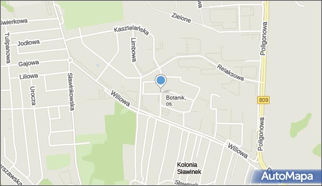 Lublin, Tarasowa, mapa Lublina