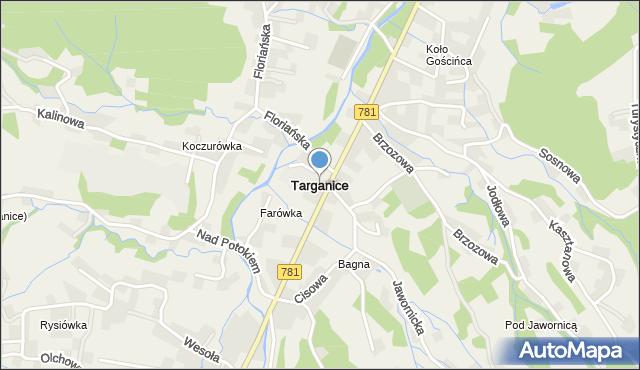 Targanice, Targanice, mapa Targanice