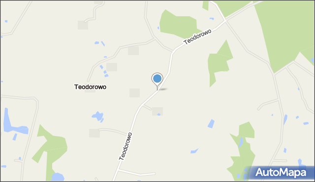 Teodorowo, Teodorowo, mapa Teodorowo