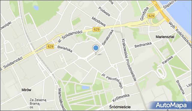 Warszawa, Teatralny, pl., mapa Warszawy