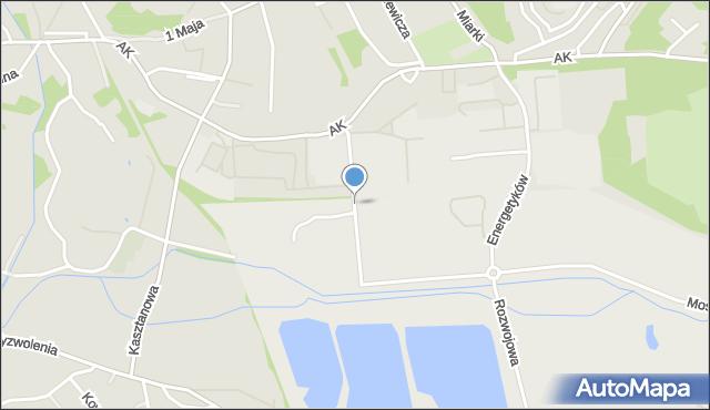 Jastrzębie-Zdrój, Towarowa, mapa Jastrzębie-Zdrój