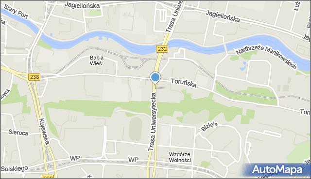 Bydgoszcz, Trasa Uniwersytecka, mapa Bydgoszczy