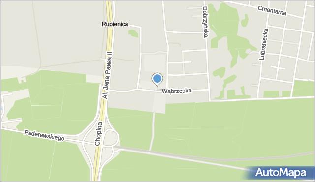 Bydgoszcz, Wąbrzeska, mapa Bydgoszczy