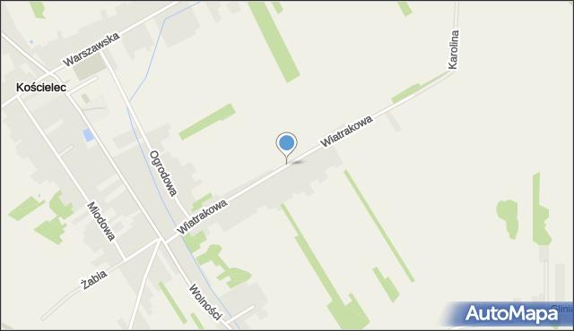Kościelec, Wiatrakowa, mapa Kościelec