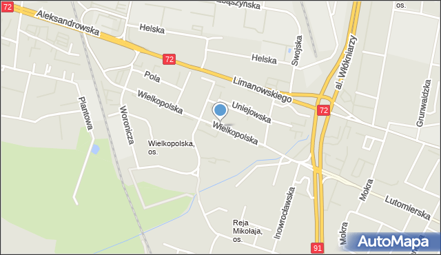 Łódź, Wielkopolska, mapa Łodzi