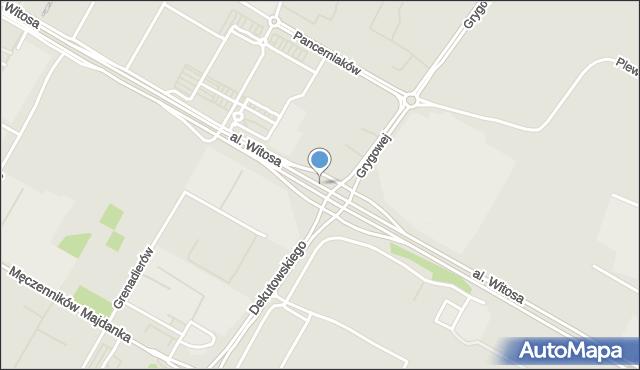 Lublin, Witosa Wincentego, al., mapa Lublina