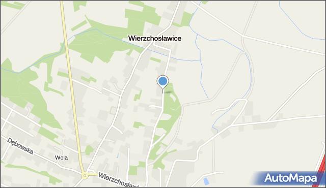 Wierzchosławice, Wierzchosławice, mapa Wierzchosławice
