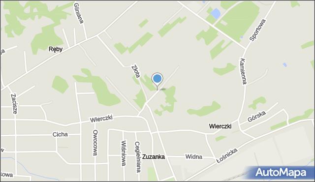Zawiercie, Wierczki-Północ, mapa Zawiercie