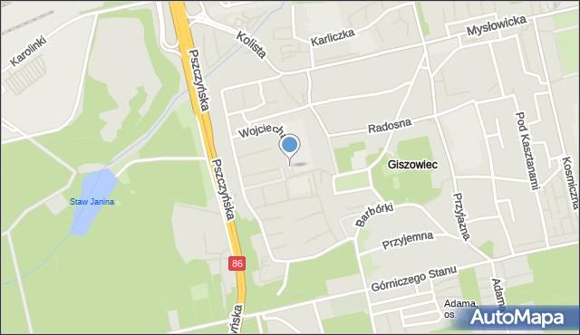 Katowice, Wojciecha, mapa Katowic